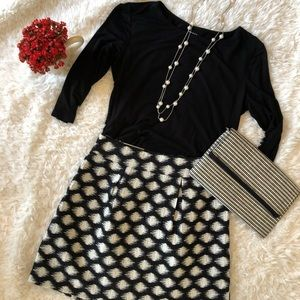 Banana Republic Skirt Black and White NWT size 2